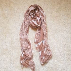 Brown and white Aztec fashion scarf